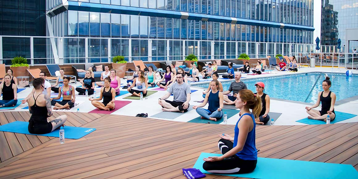The Sterling Apartment Homes - Philadelphia, PA - Rooftop Yoga